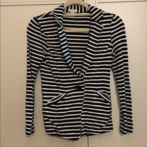 Caslon XS Petite Striped Blazer